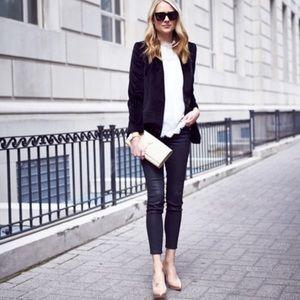 Madewell Lauren Velvet Blazer True Black